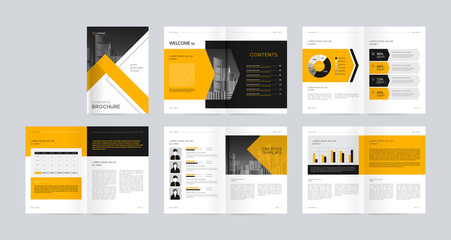 template layout design with cover page for company profile ,annual report , brochures, flyers, presentations, leaflet, magazine, book
