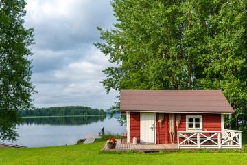 Lake landscape in Finland