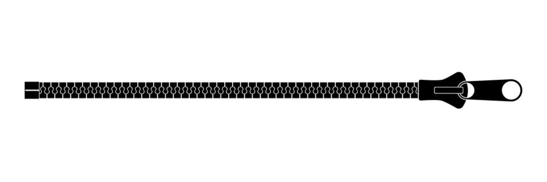 Clothing fastener flat vector illustration