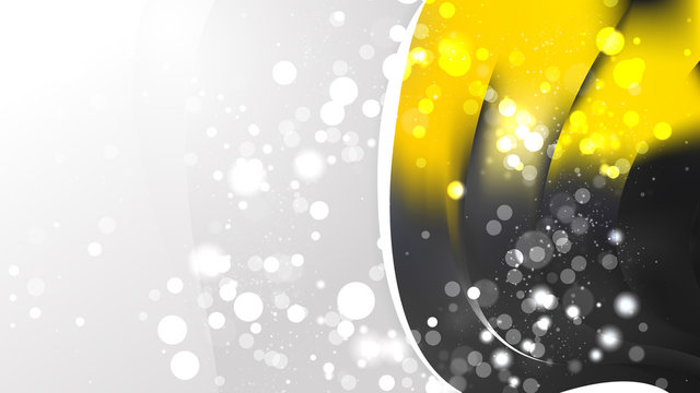 Black and Yellow Brochure Design Template