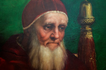 Detail of Portrait of Pope Julius II Fotomurales