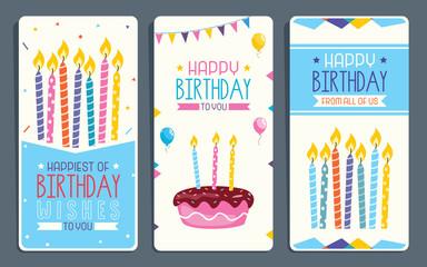 Vector Illustration Of Children Birthday Party Invitation Card Design