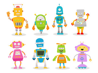 Cute Robot Character  Set