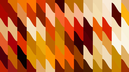 Orange Geometric Shapes Background Vector Graphic Wall mural