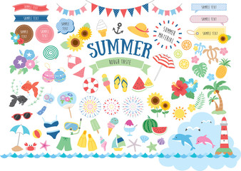 Summer illustration set