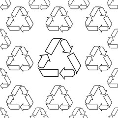 Recycle Icon Sign Seamless Pattern
