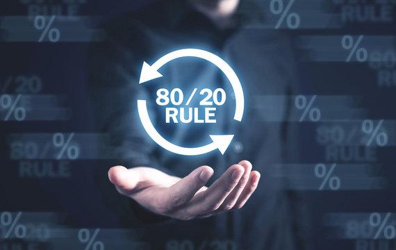 80/20 rule. Concept for Pareto principle. Business concept