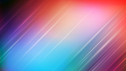 Abstract lighting on blurred colorful background