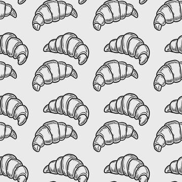 croissant seamless pattern
