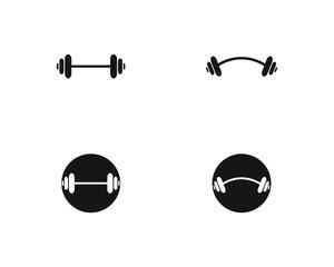 Barbel, Dumbbell Gym Icon Logo Template gym Badge, Fitness Logo design