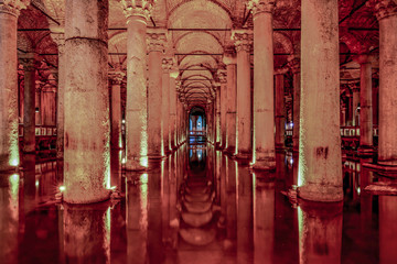 architectural water cistern, historic concept and impressive building