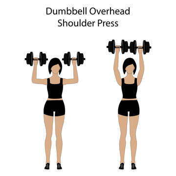Dumbbell overhead shoulder press exercise