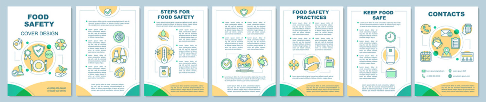 Food safety brochure template layout