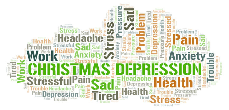 Christmas Depression word cloud.