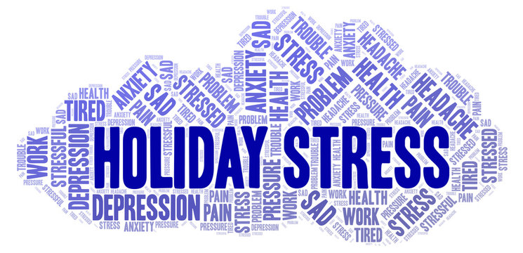 Holiday Stress word cloud.