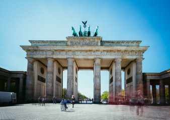 Tuinposter Berlijn The Brandenburger Tor, Brandenburger Gate in Berlin, Germany. Tourist attraction.