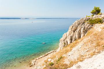 Stanici, Omis, Croatia - Turquoise water at the beautiful beach of Stanici