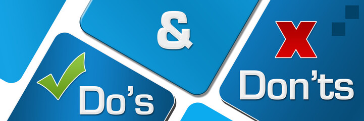 Dos And Donts Blue Rounded Squares
