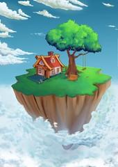 Obraz floating island - fototapety do salonu