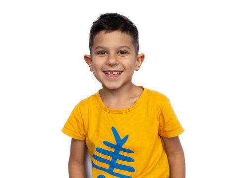 Portrait of cute smiling little boy