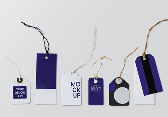 Set of Logo Tag Design Mockups