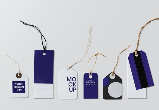 Set of Logo Tag Design Mockups