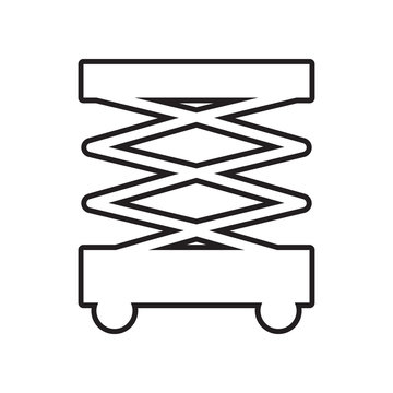 Scissors lift icon. Element of Constraction tools for mobile concept and web apps icon. Outline, thin line icon for website design and development, app development