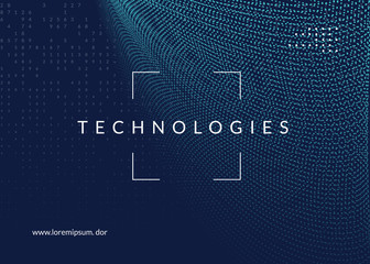 Big data background. Technology for visualization, artificial intelligence, deep learning and quantum computing. Design template for industry concept. Fractal big data backdrop.