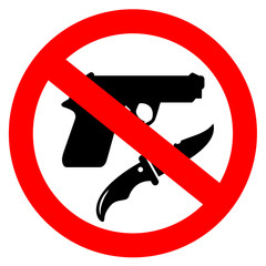 No weapon vector sign