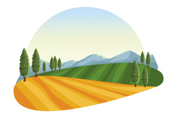 farm lanscape icon