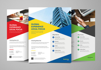 Business Flyer Layouts in 3 Colors