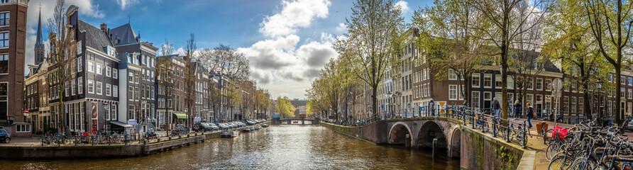 Morning view of Amsterdam, Netherlands