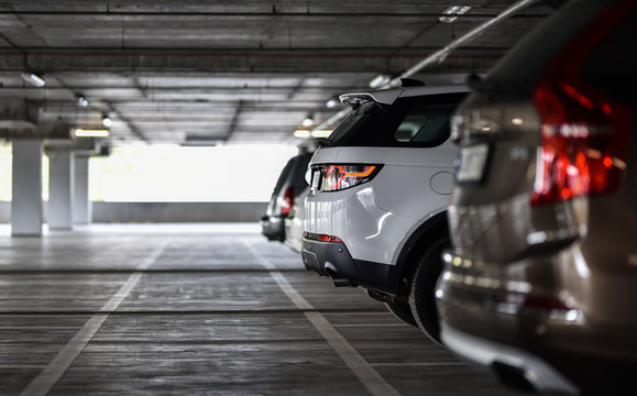 row of cars on parking