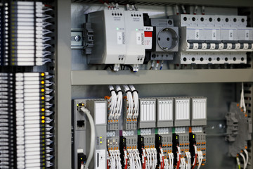 Obraz programmable logic controllers PLC control system - fototapety do salonu