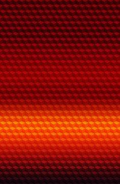Cube red orange geometric 3D pattern background,  illustration.