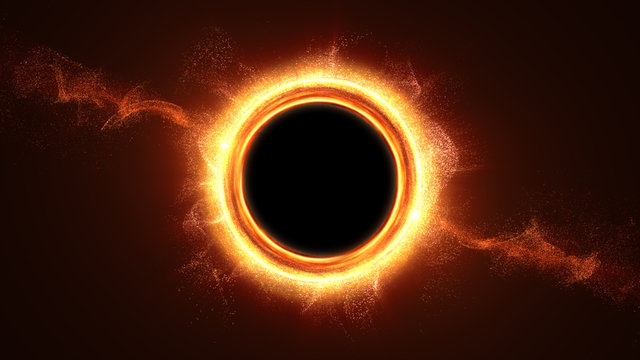 Futuristic head up display simulation of a Black Hole a region of space-time exhibiting such strong gravitational effects that nothing can escape
