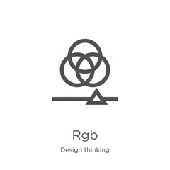 rgb icon vector from design thinking collection. Thin line rgb outline icon vector illustration. Outline, thin line rgb icon for website design and mobile, app development.