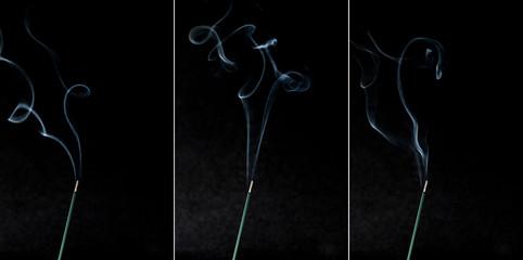 お香の煙写真 3枚セット