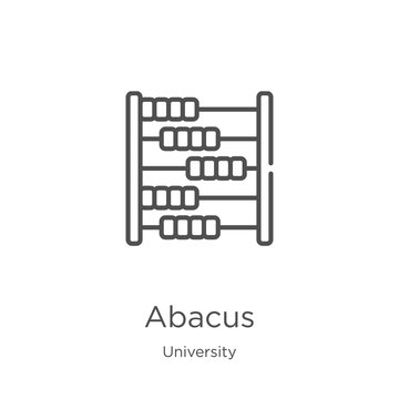 abacus icon vector from university collection. Thin line abacus outline icon vector illustration. Outline, thin line abacus icon for website design and mobile, app development.