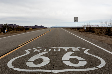 Fotobehang Route 66 Route 66, California, Mojave, USA
