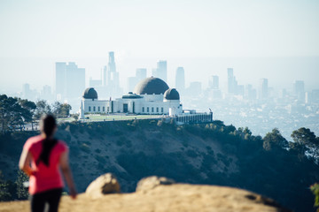 View of Griffith Observatory and Downtown Los Angeles