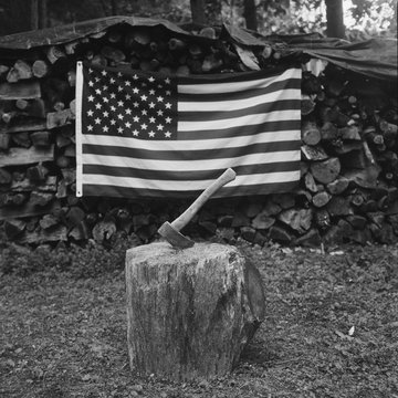 American Flag and Axe