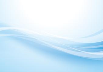 アブストラクト 波 曲線 水色
