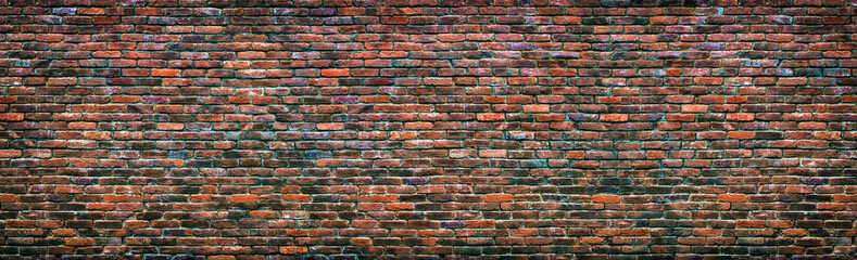 Colorful brick wall background. Old masonry texture