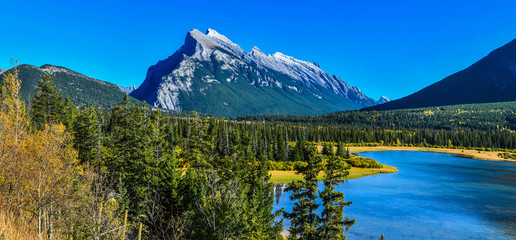 Wall Mural - Panorama View Vermillion Lake located in Banff National Park, Canada.