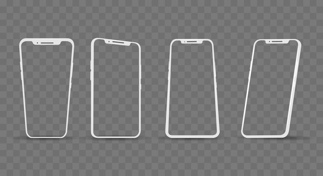 White phone angles frames
