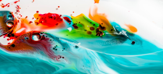 Abstract paint in oil