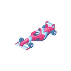 Foto op Aluminium F1 Sport Car Formula 3d vector isometric icon illustration