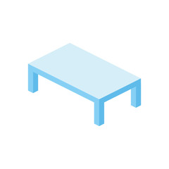 Table 3d vector isometric icon
