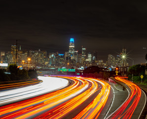 Fotobehang Nacht snelweg San Francisco Streets